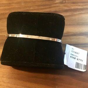 Harve Benard Vintage CZ Lined Oval Bracelet Cuff